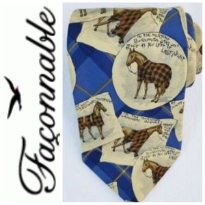 Faconnable animal print Pattern Mens Designers Tie